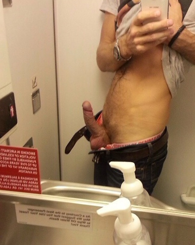 Uncut Cock Cuming In Public Bathroom