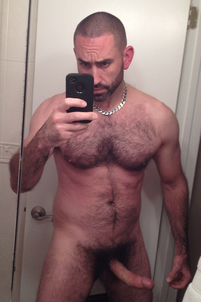Nude Hairy Muscle Man