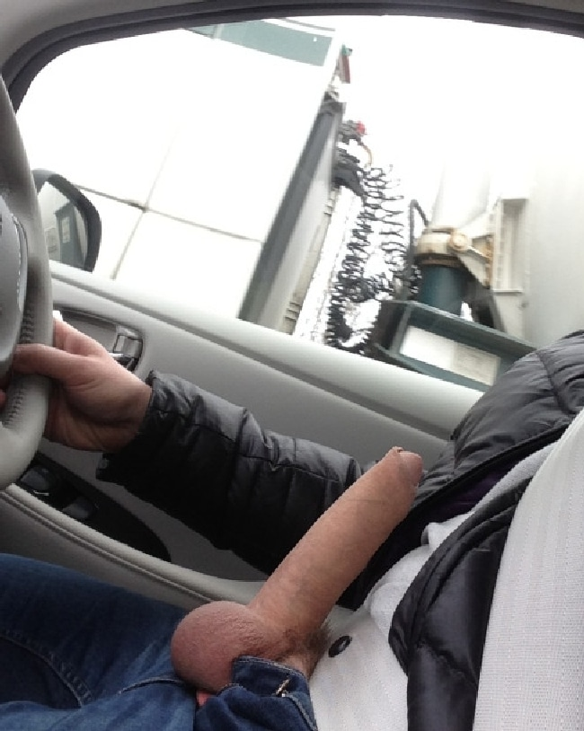 Hard Cock In Car